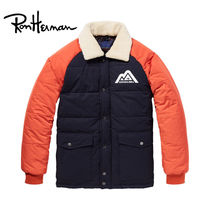 Ron Herman Short Street Style Bi-color Plain Handmade Varsity Jackets