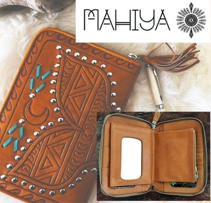 Studded Leather Handmade Long Wallets