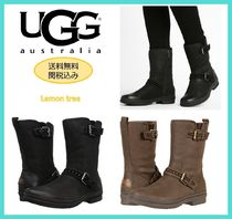 UGG Australia Round Toe Rubber Sole Casual Style Street Style Plain