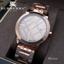 Burberry Round Quartz Watches Stainless Elegant Style Analog Watches