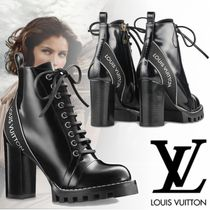Louis Vuitton Rubber Sole Casual Style Street Style Plain Leather