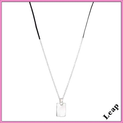 Casual Style Unisex Handmade Silver Necklaces & Pendants