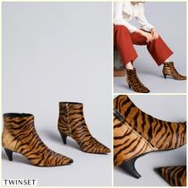 TWIN-SET Other Animal Patterns Leather Elegant Style