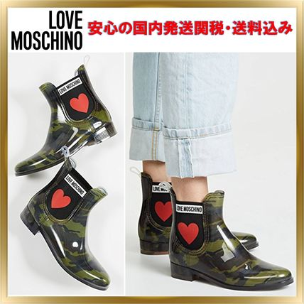 Camouflage Rubber Sole Unisex Khaki Ankle & Booties Boots