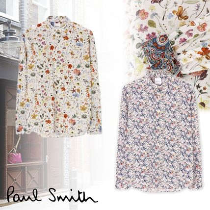 Paul Smith Shirts Flower Patterns Long Sleeves Cotton Shirts