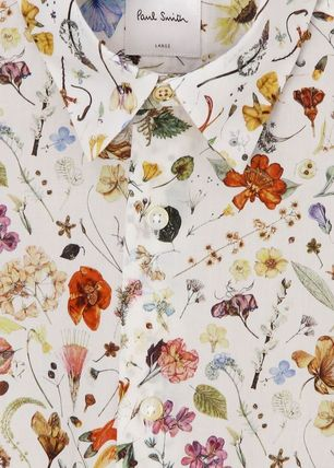 Paul Smith Shirts Flower Patterns Long Sleeves Cotton Shirts 2