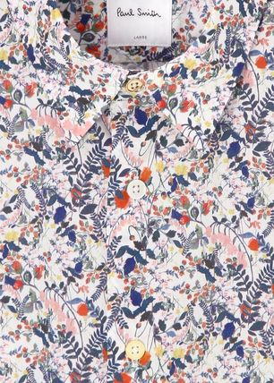 Paul Smith Shirts Flower Patterns Long Sleeves Cotton Shirts 5