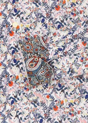 Paul Smith Shirts Flower Patterns Long Sleeves Cotton Shirts 6