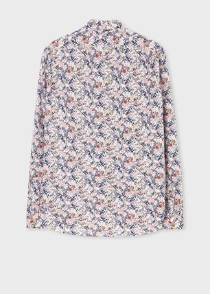 Paul Smith Shirts Flower Patterns Long Sleeves Cotton Shirts 7