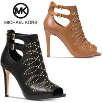Michael Kors Open Toe Casual Style Studded Leather Pin Heels