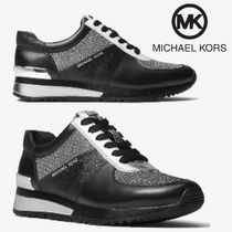 Michael Kors Round Toe Rubber Sole Casual Style Low-Top Sneakers