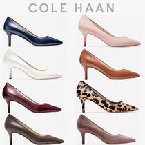 Cole Haan Leopard Patterns Casual Style Leather Pin Heels