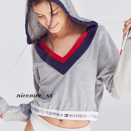 Short Street Style Long Sleeves Plain Cotton Cropped