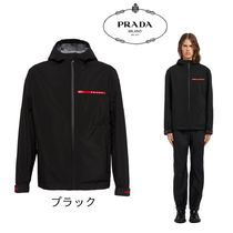 PRADA Short Plain Windbreaker Jackets