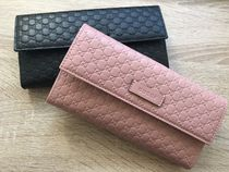 GUCCI Monoglam Leather Handmade Long Wallets