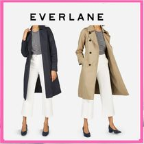 Everlane Plain Medium Office Style Trench Coats