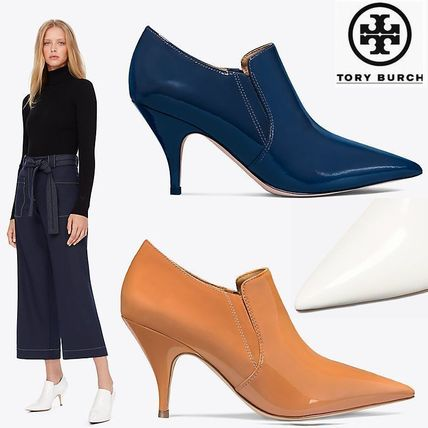 dc364fbe22b9e ... Tory Burch Ankle   Booties Plain Leather Pin Heels Elegant Style Ankle    Booties ...