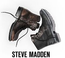 Steve Madden Street Style Plain Leather Engineer Boots