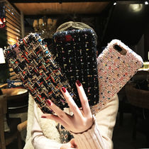 Blended Fabrics With Jewels Smart Phone Cases