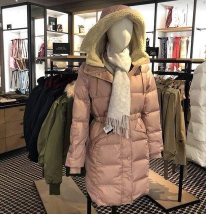 Casual Style Plain Long Down Jackets