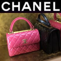 CHANEL MATELASSE Other Check Patterns Lambskin Street Style 2WAY Chain Plain