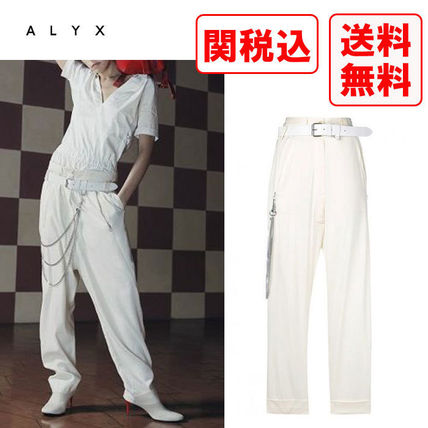 Casual Style Wool Street Style Bottoms