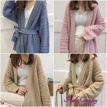 Cable Knit Casual Style Wool Long Sleeves Medium Knitwear