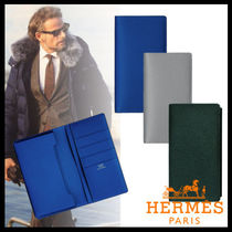 HERMES Plain Leather Smart Phone Cases
