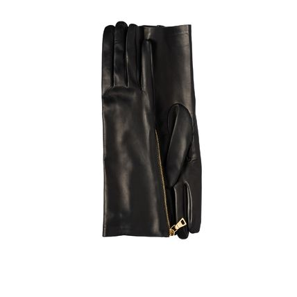 PRADA Leather & Faux Leather Plain Leather Leather & Faux Leather Gloves 2