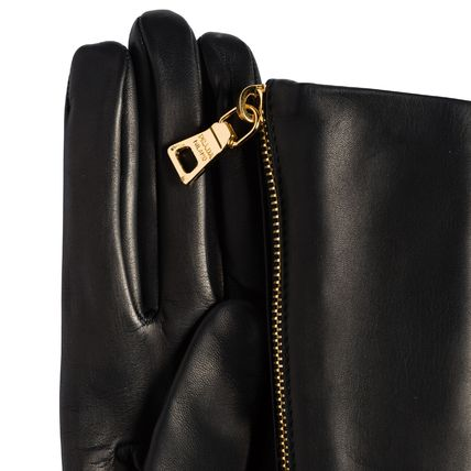 PRADA Leather & Faux Leather Plain Leather Leather & Faux Leather Gloves 3