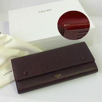 CELINE Flap Calfskin Long Wallets