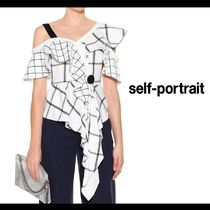 SELF PORTRAIT Other Check Patterns Casual Style Medium Short Sleeves