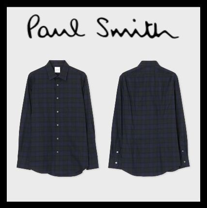 Paul Smith Shirts Gingham Long Sleeves Cotton Shirts