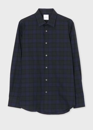 Paul Smith Shirts Gingham Long Sleeves Cotton Shirts 2