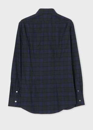 Paul Smith Shirts Gingham Long Sleeves Cotton Shirts 3