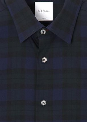 Paul Smith Shirts Gingham Long Sleeves Cotton Shirts 4