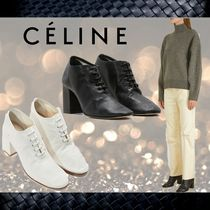 CELINE Plain Party Style Ankle & Booties Boots