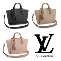 Louis Vuitton MAHINA 2WAY Leather Shoulder Bags