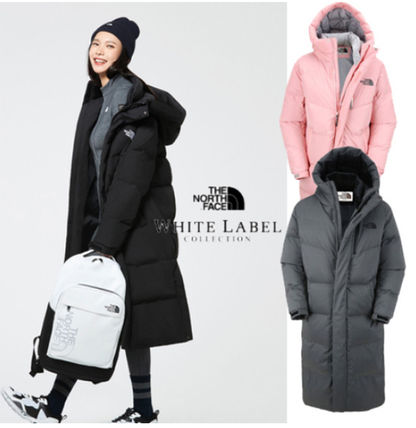 THE NORTH FACE Down Jackets Unisex Street Style Plain Long Down Jackets
