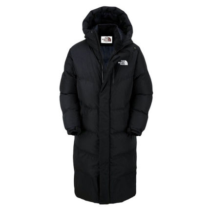 THE NORTH FACE Down Jackets Unisex Street Style Plain Long Down Jackets 3