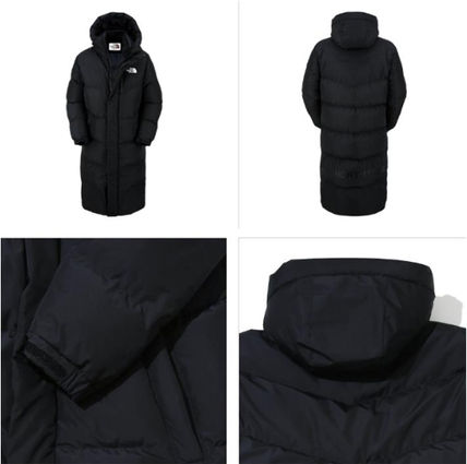 THE NORTH FACE Down Jackets Unisex Street Style Plain Long Down Jackets 4
