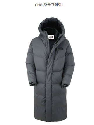 THE NORTH FACE Down Jackets Unisex Street Style Plain Long Down Jackets 5