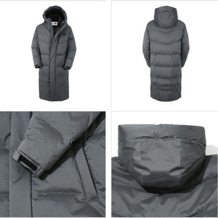 THE NORTH FACE Down Jackets Unisex Street Style Plain Long Down Jackets 6