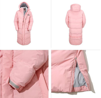 THE NORTH FACE Down Jackets Unisex Street Style Plain Long Down Jackets 8