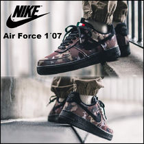 Nike AIR FORCE 1 Camouflage Unisex Street Style Sneakers