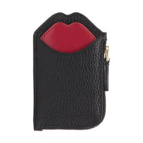 Lulu Guinness Plain Leather Small Wallet Coin Cases
