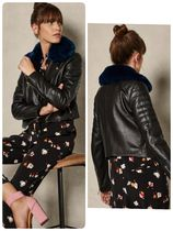 TED BAKER Short Plain Leather Biker Jackets