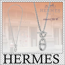 HERMES Unisex Street Style Silver Necklaces & Chokers