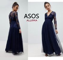 ASOS Maxi V-Neck Long Sleeves Long Home Party Ideas Halloween