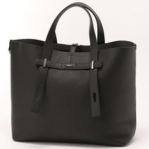 FURLA Street Style A4 Leather Totes